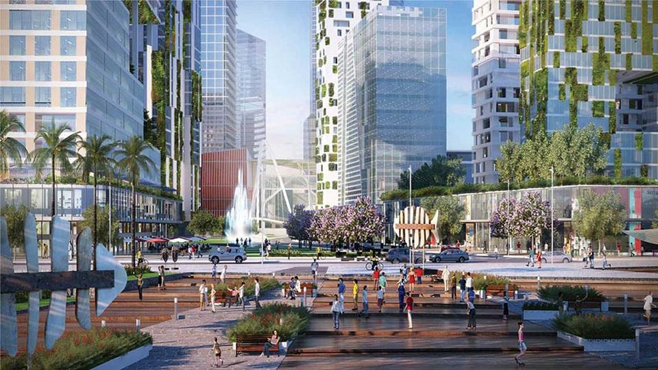 Quảng trường trung tâm tại dự án Empire City Quận 2