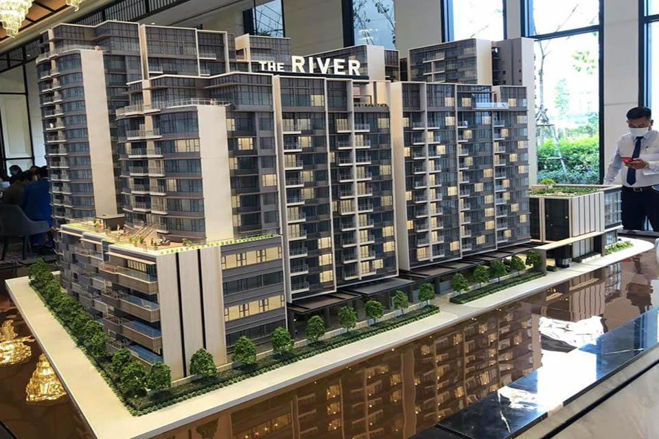 Vị trí nhà mẫu, sa bàn: Sales Gallery The River Thủ Thiêm - Số 10 đường R2, khu đô thị Thủ Thiêm, Phường Bình An, Quận 2, TP.HCM