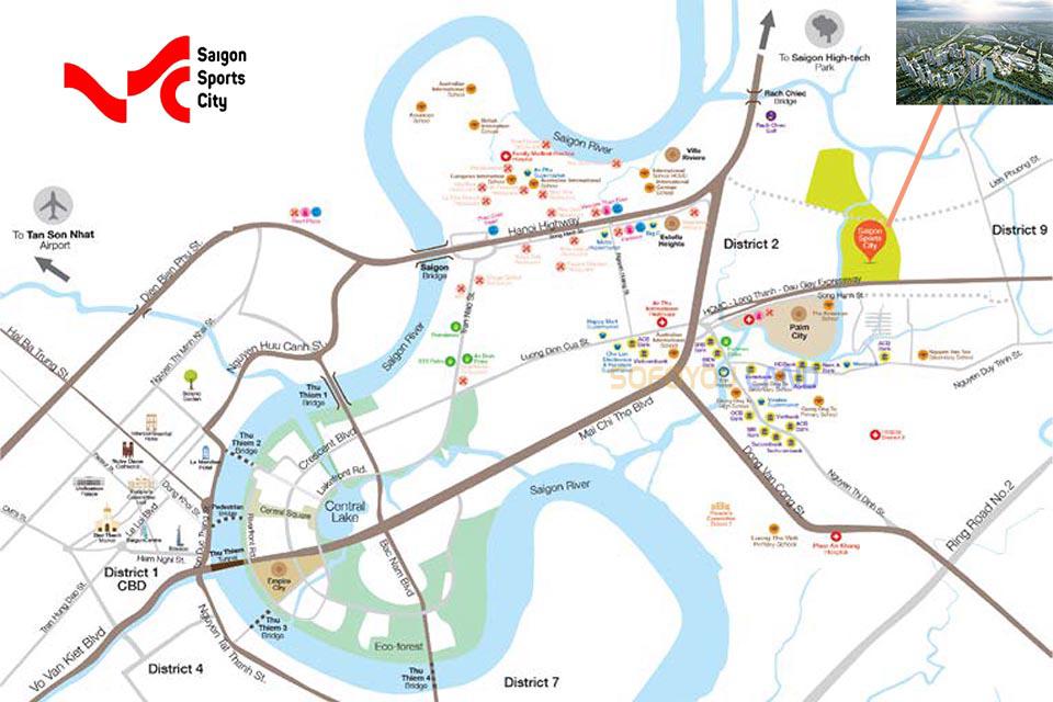 Vị trí dự án Saigon Sport City
