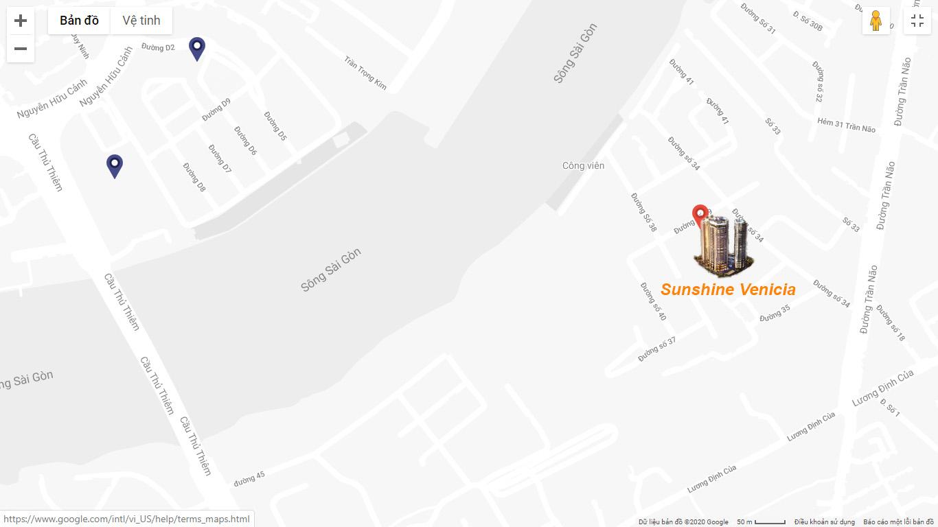 Vị trí Dự án Sunshine Venicia Quận 2