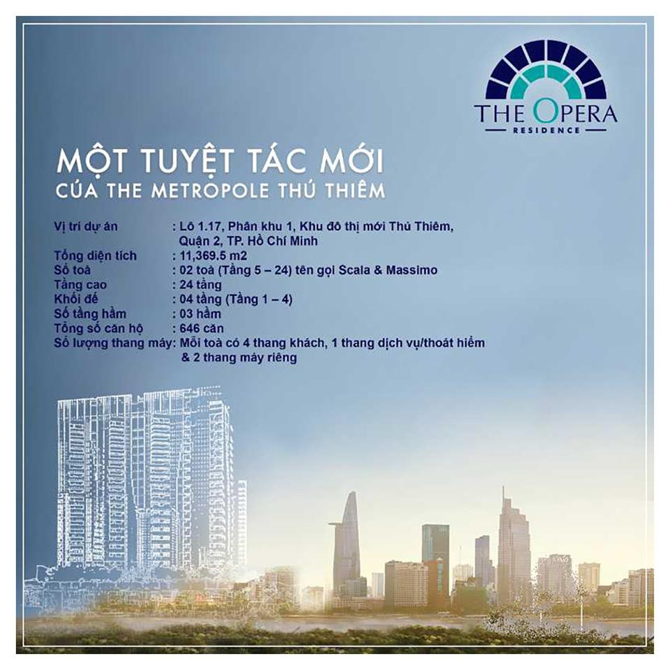 The Opera Residence tuyệt tác bên sông Sài Gòn - Dự án căn hộ The Metropole Q2