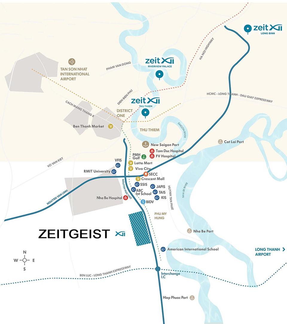 Vị trí tiềm năng phát triển của dự án ZEITGEIST Nguyễn Hữu Thọ, Nhà Bè