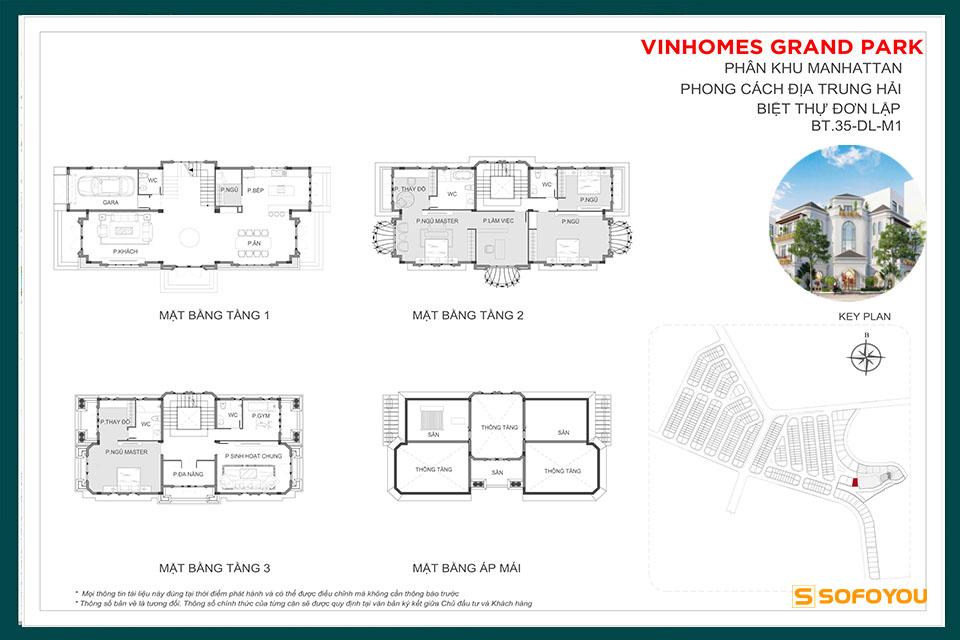 Mẫu Layout Thiết Kế Biệt Thư Đơn Lập - Riverside Villa The Manhattan