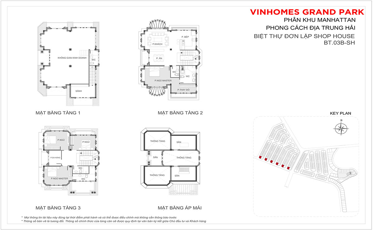 Layout Thiết Kế Shop Villa BT.03b-SH Boutique Villa The Manhattan