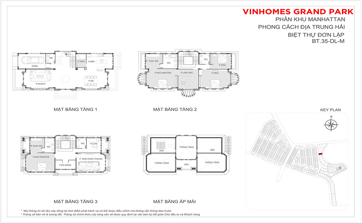 Layout Thiết Kế Biệt Thư Đơn Lập BT.35-DL-M Riverside Villa The Manhattan