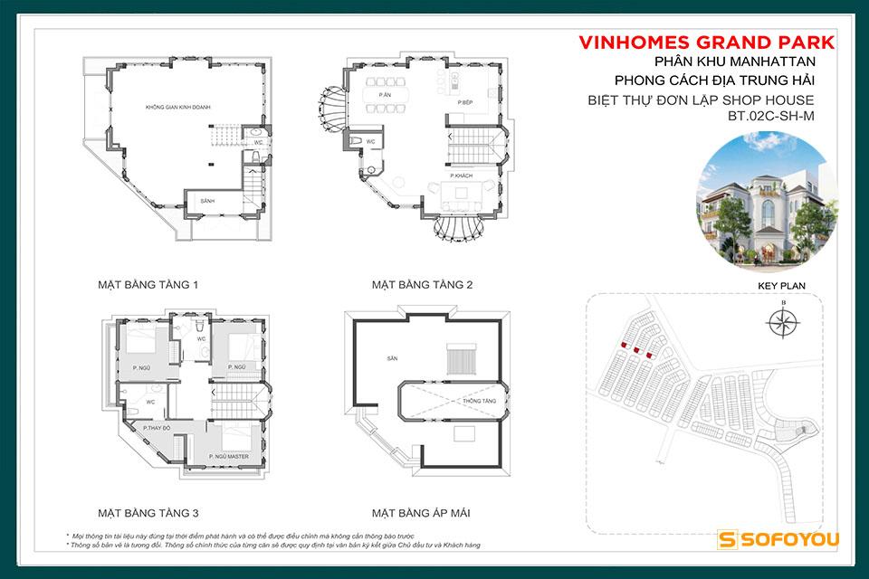 Mẫu Layout Thiết Kế Shop Villa - Boutique Villa The Manhattan
