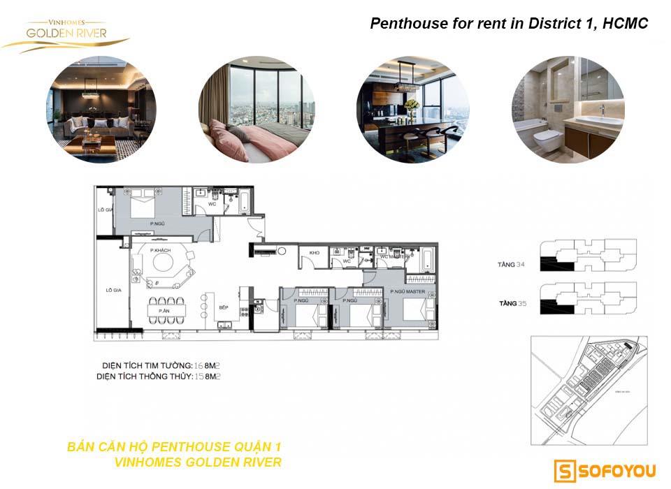 Bán căn hộ Penthouse Aqua Vinhomes Golden River Bason Q1