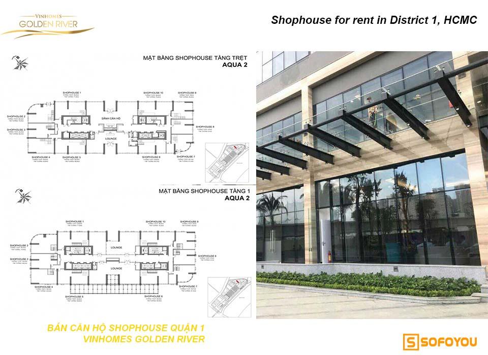 Bán shophouse khối đế căn hộ Vinhomes Golden River Bason Q1