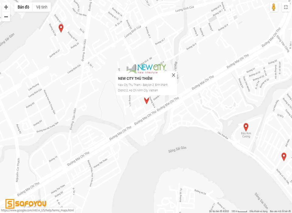 Địa chỉ New City số 17 Mai Chí Thọ, phường Bình Khánh, Quận 2
