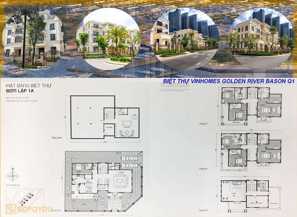 Layout thiết kế biệt thự The Victoria