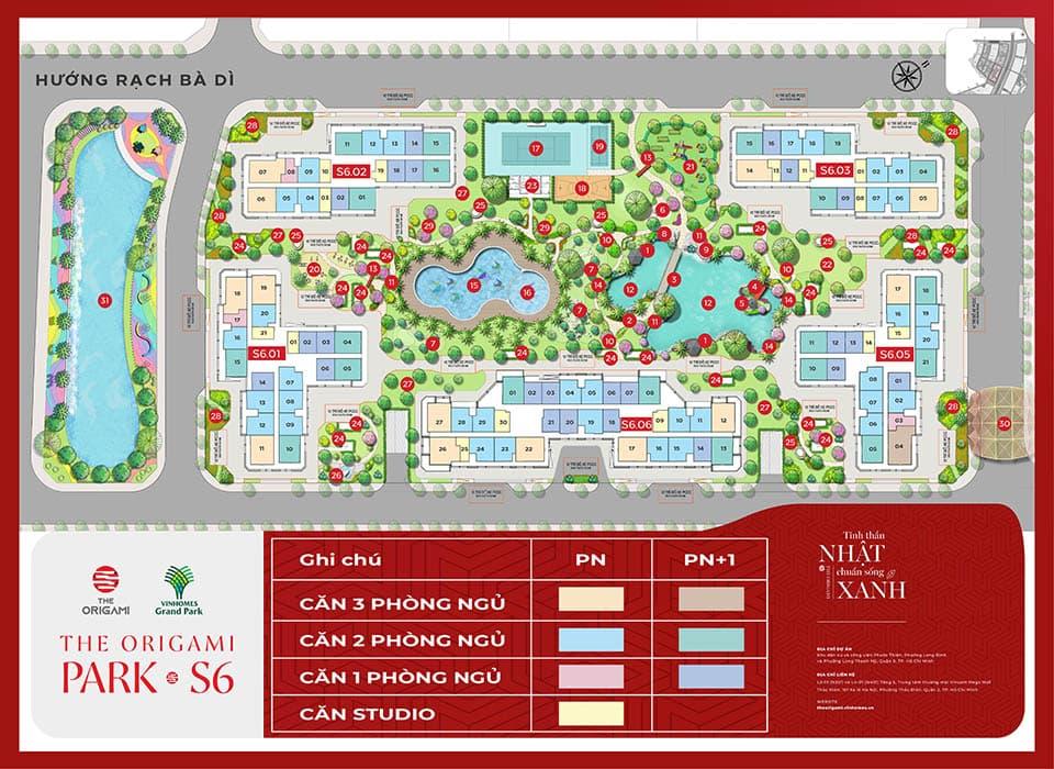 Tòa Zen S6 - The Origami Vinhomes Grand Park