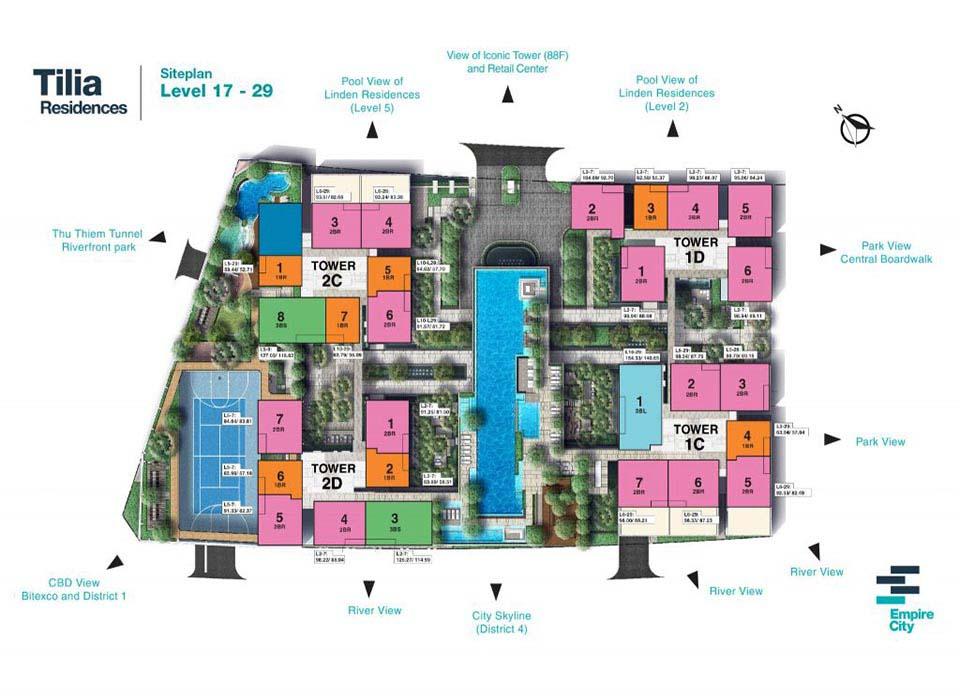 Mặt bằng Empire City Mu7 - Tilia Residence Q2