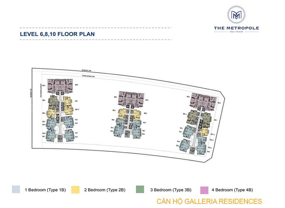 Mặt bằng layout Căn hộ Galleria Residences Quận 2