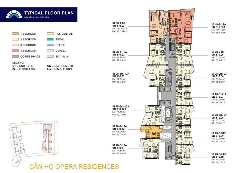 Mặt bằng layout Căn hộ Opera Residences Quận 2