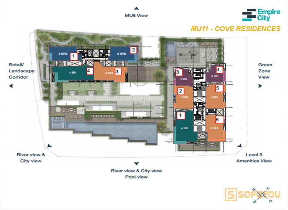 Mặt bằng Empire City Mu11 - Cove residences Thủ Thiêm Quận 2