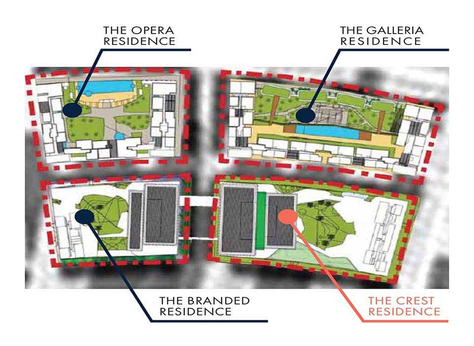 Mặt bằng layout tổng thể Căn hộ Metropole Thủ Thiêm District 2