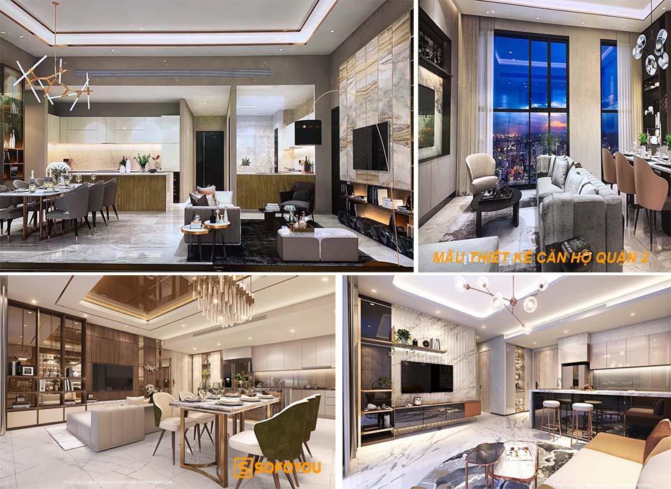 Mẫu thiết kế căn hộ Thảo điền Green Quận 2