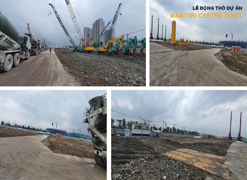 Công trường xây dựng dự án Masteri Centre Point