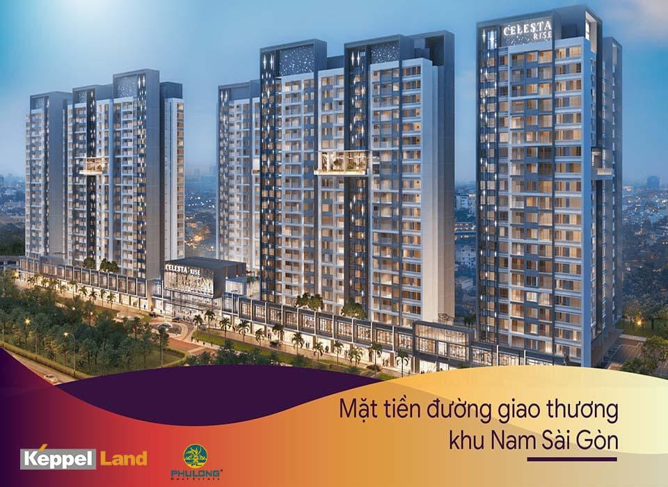 Mở bán căn hộ chung cư cao cấp Celesta Rise Keepel Land Nhà Bè
