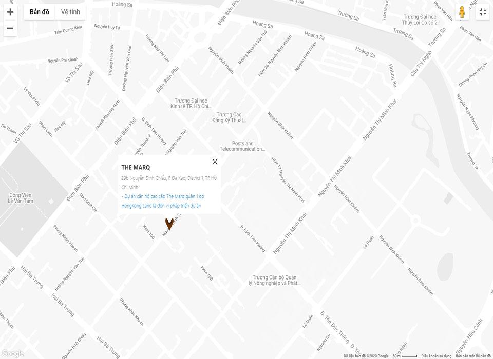 Vị trí tòa nhà Marq 29b Nguyễn Đình Chiểu, phường Đa Kao, Quận 1, TP. Hồ Chí Minh