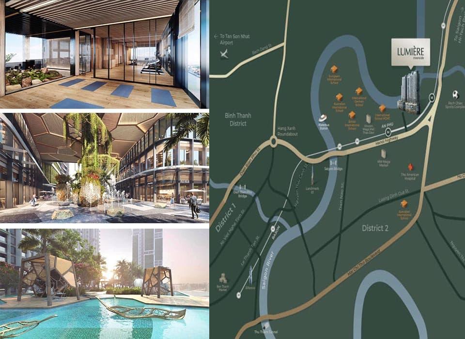 Dự án Lumiere Riverside sở hữu Các tiện ích xung quanh đáp ứng nhu cầu sinh hoạt hằng ngày