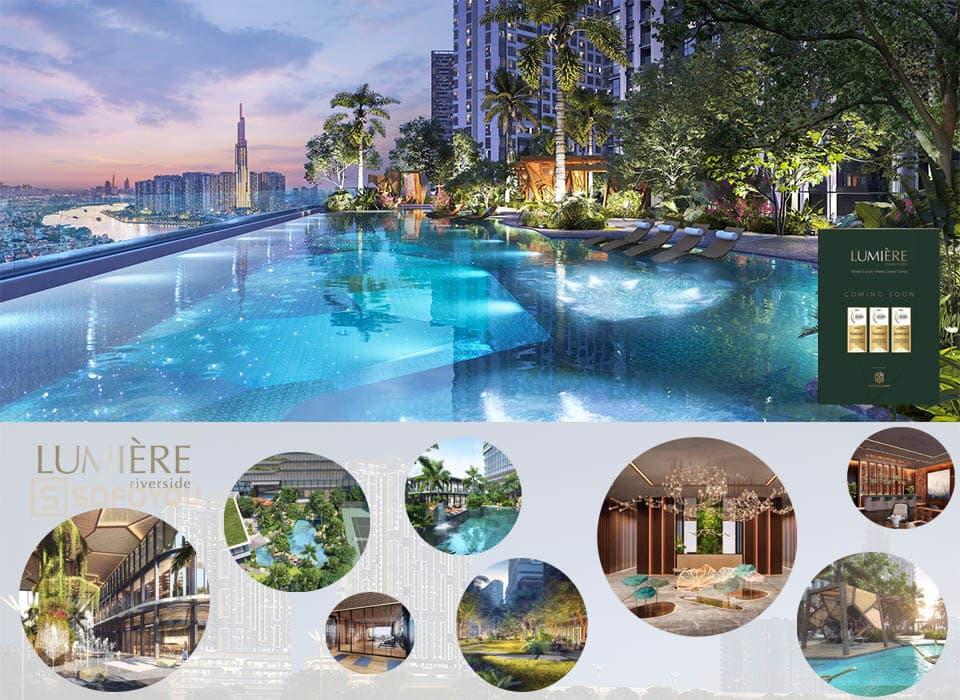 "Lumière Riverside District 2 qua Slogan ""When Luxury Meets Green Living"""