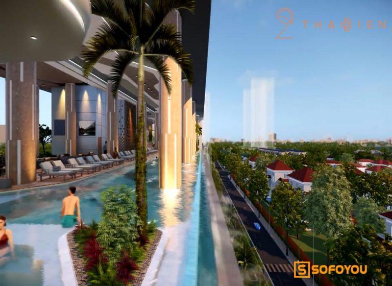 """Khám phá Hồ bơi tràn """"Bể bơi cho bé"""" view sông Saigon tại dự án Q2 Thảo Điền"""