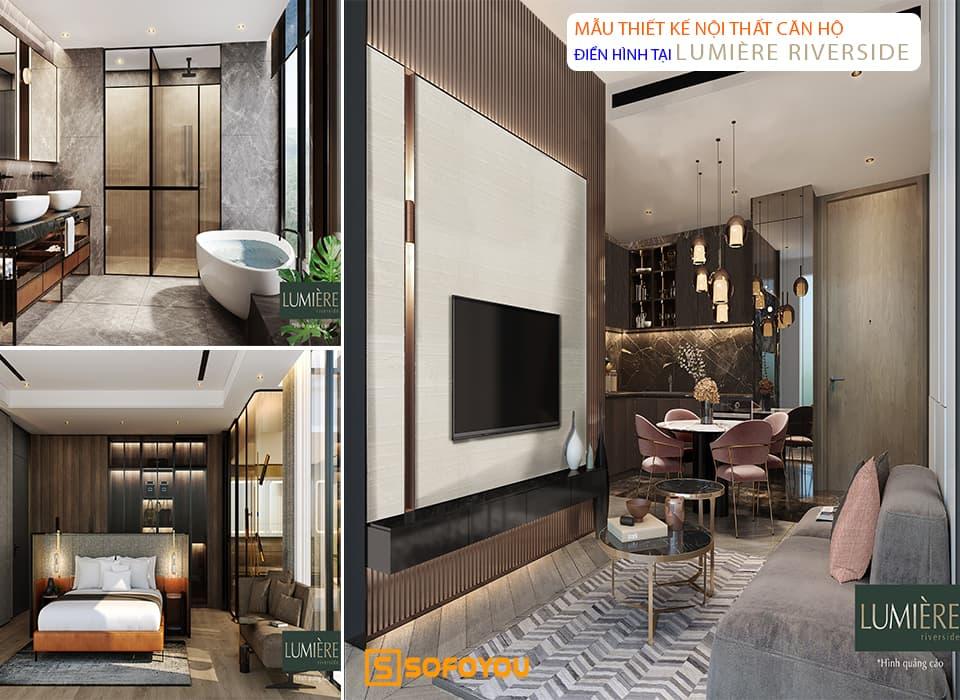 Mẫu thiết kế nội thất căn hộ Lumière West & East An Phú Quận 2