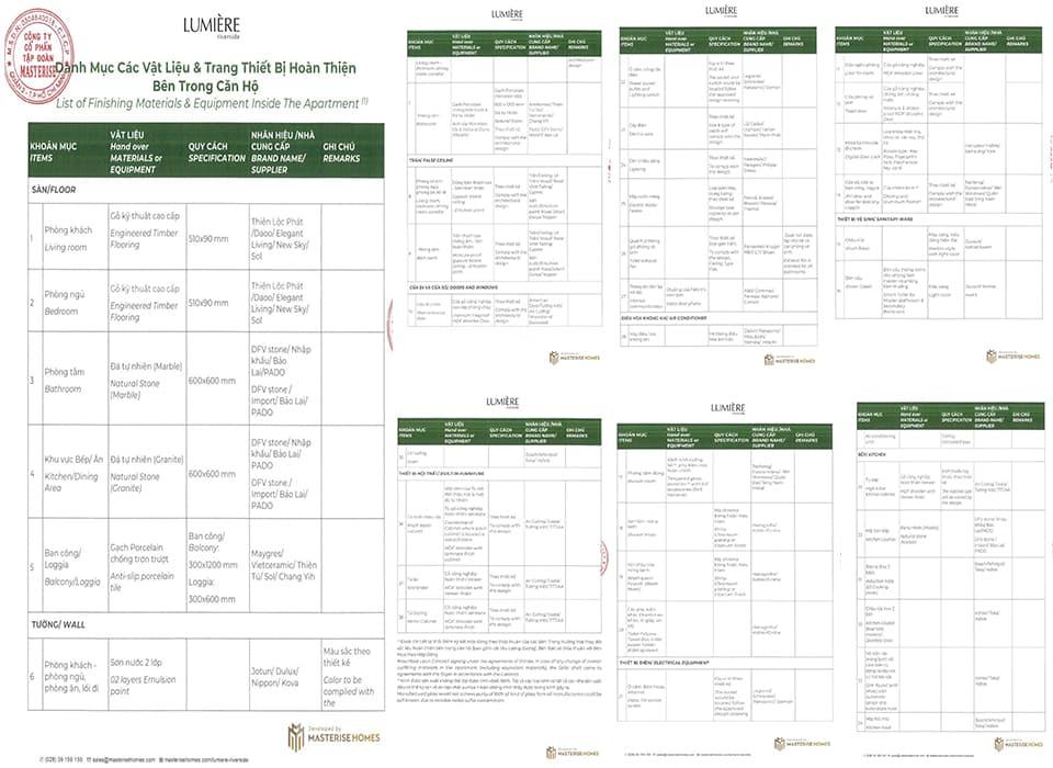 Tiêu chuẩn bàn giao nội thất cao cấp khi mua căn hộ Lumière Riverside An Phú, Quận 2