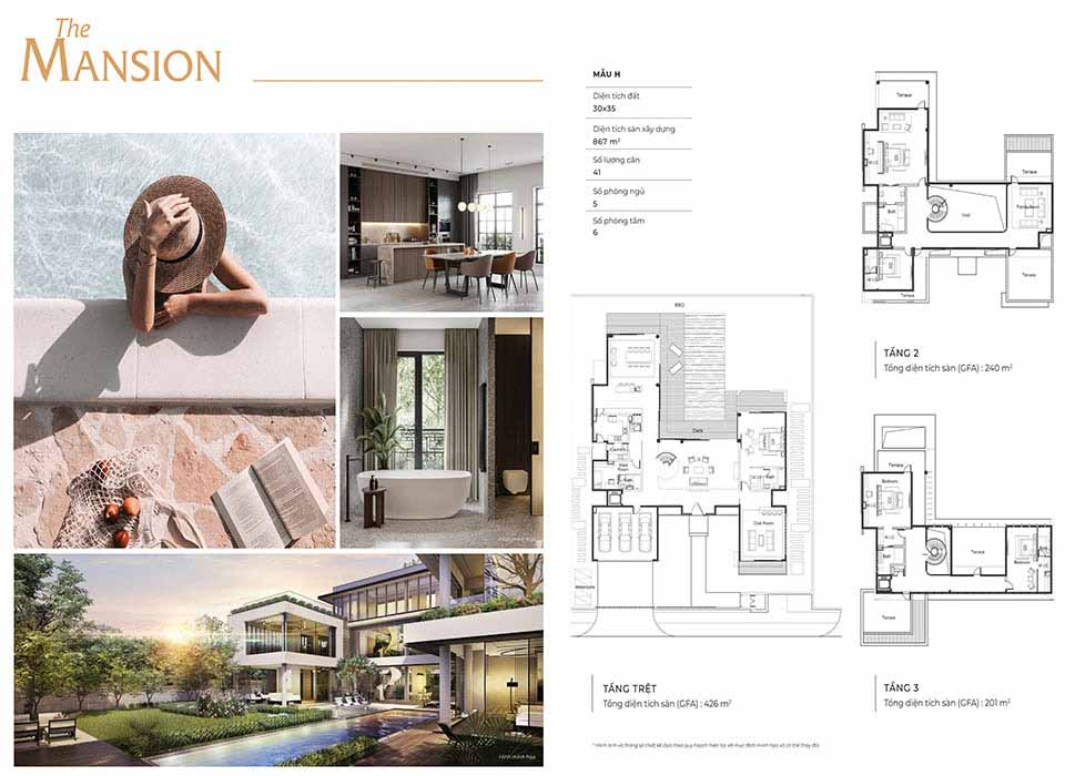 """Layout thiết kế dinh thự icon """"The Mansion H & U"""""""