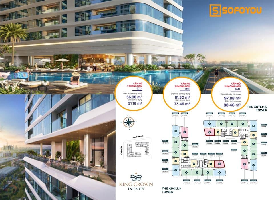 Tham khảo giá bán căn hộ King Crown Thành phố mới Thủ Đức