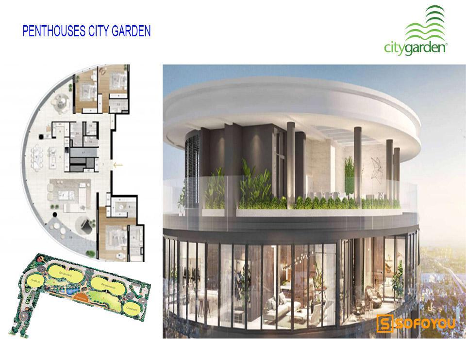 Bán hoặc cho thuê căn hộ Penthouses City Garden Bình thạnh