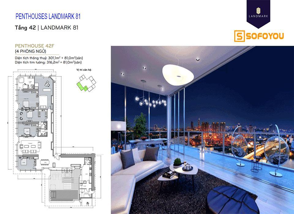 Bán hoặc cho thuê căn hộ Penthouses Landmark 81, giá tốt