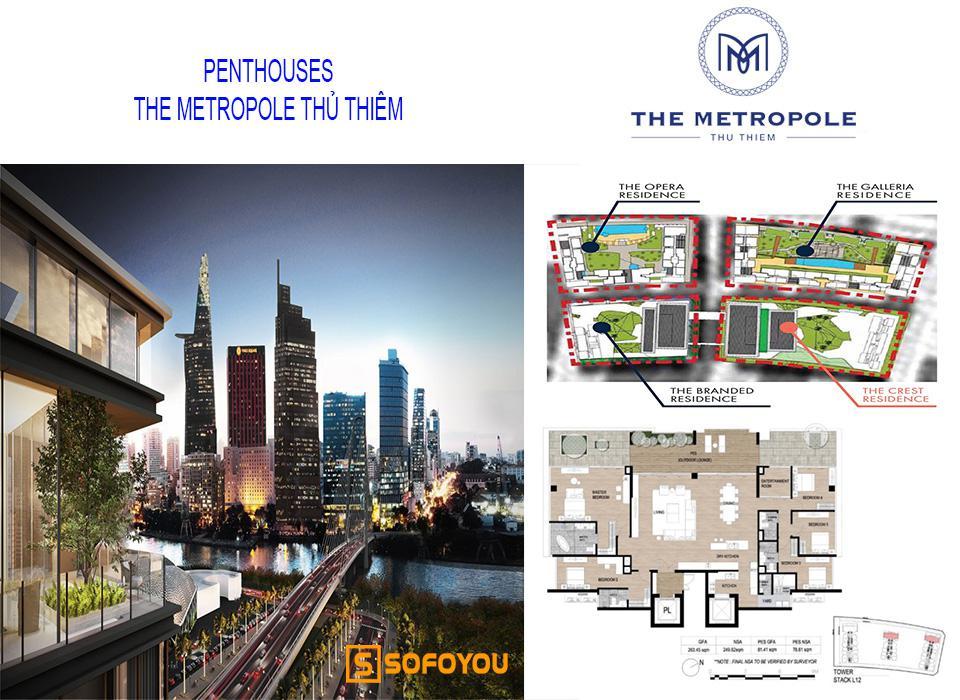 Bán căn hộ Penthouses The Metropole Thủ Thiêm Quận 2 do SonKim Land triển khai