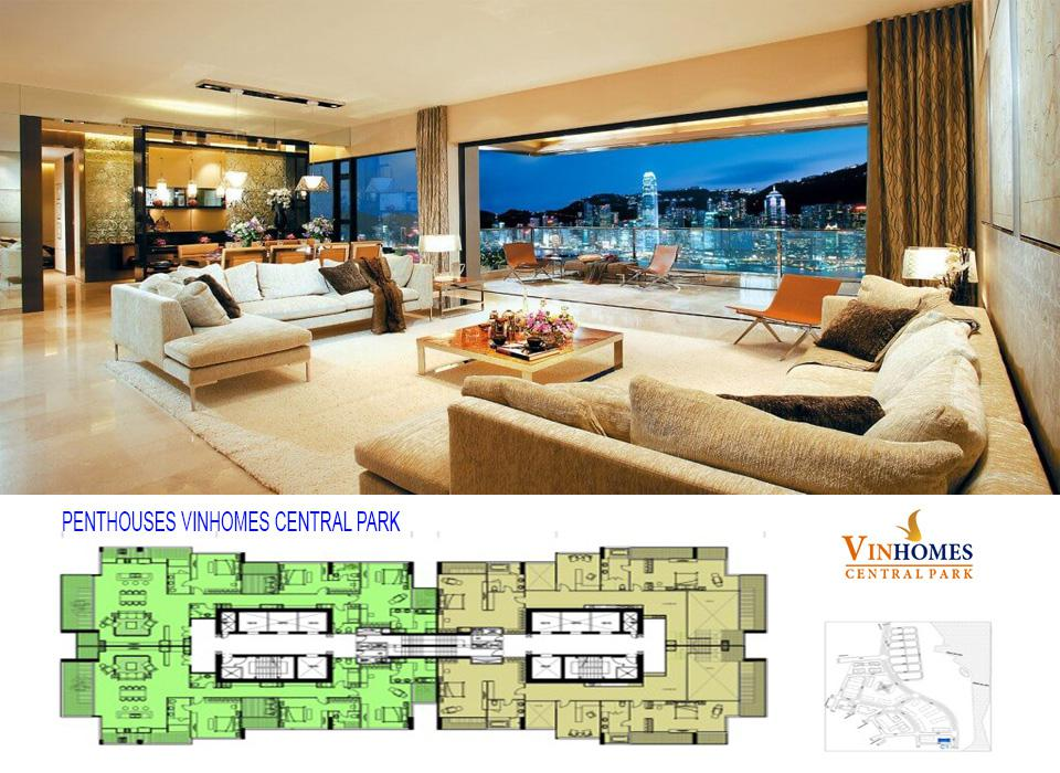 Bán hoặc cho thuê căn hộ Penthouse Vinhomes Central Park Tân cảng, bình thạnh