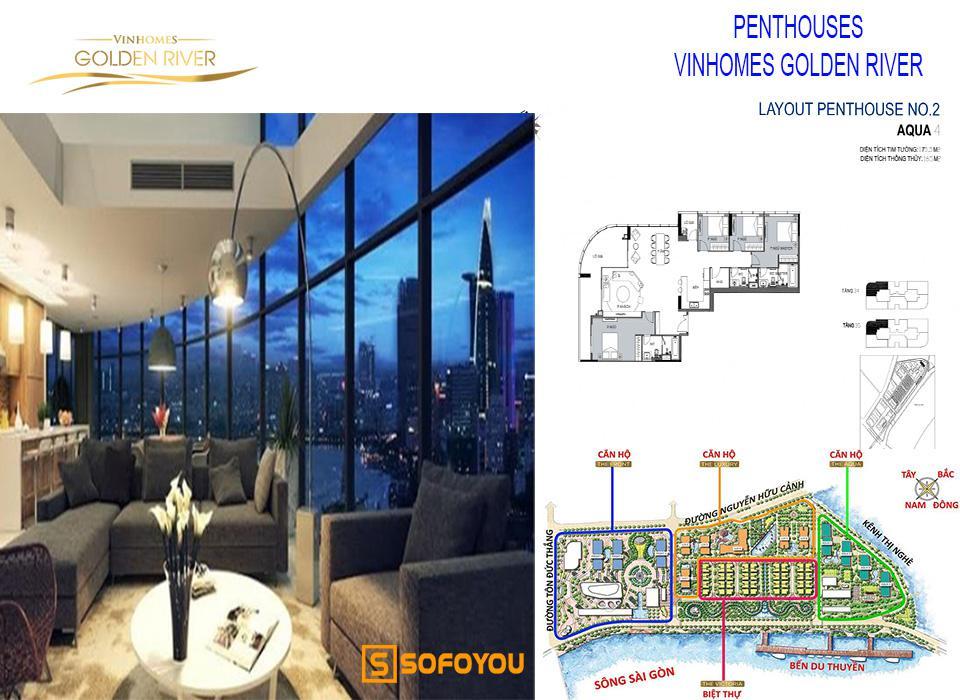 Bán hoặc cho thuê căn hộ Penthouses Vinhomes Golden River Bason Quận 1