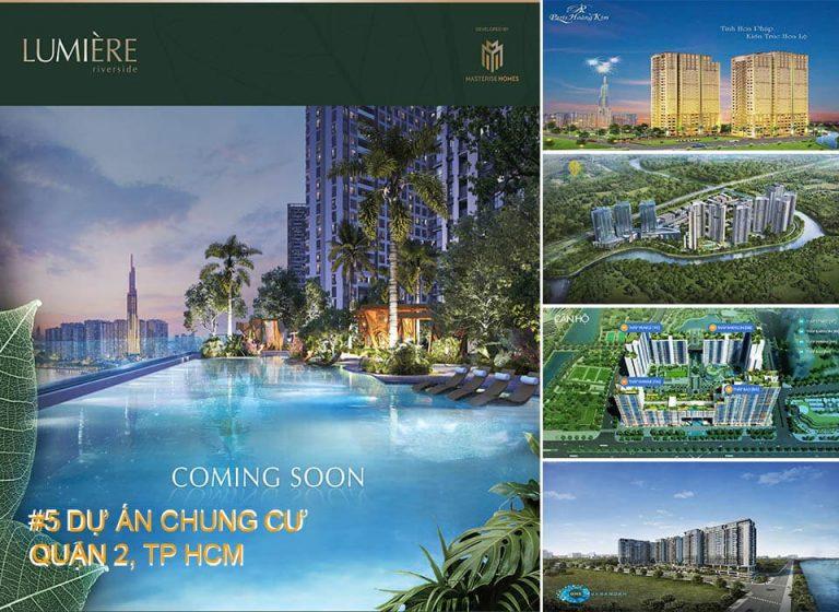 Top 5 dự án chung cư nên mua tại Quận 2, TP. Hồ Chí Minh