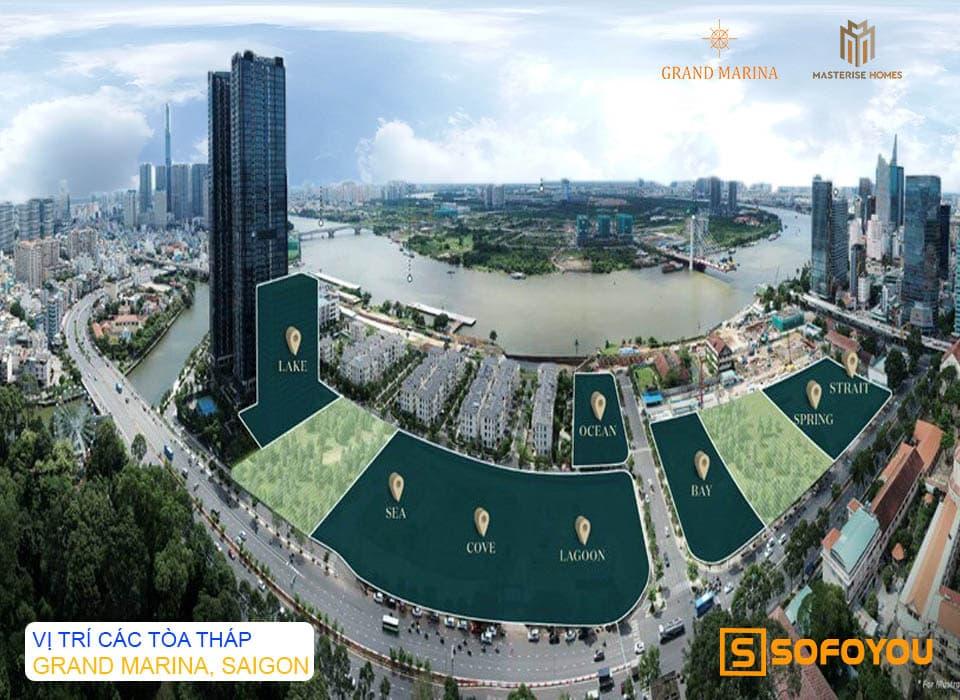 Mặt bằng tổng thể dự án Grand Marina Ba Son Quận 1