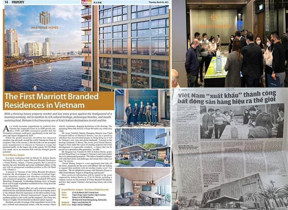 """Masterise Homes đã trình làng """"Bất động sản Hàng Hiệu"""" với thương hiệu Grand Marina, Saigon ra Thế Giới"""
