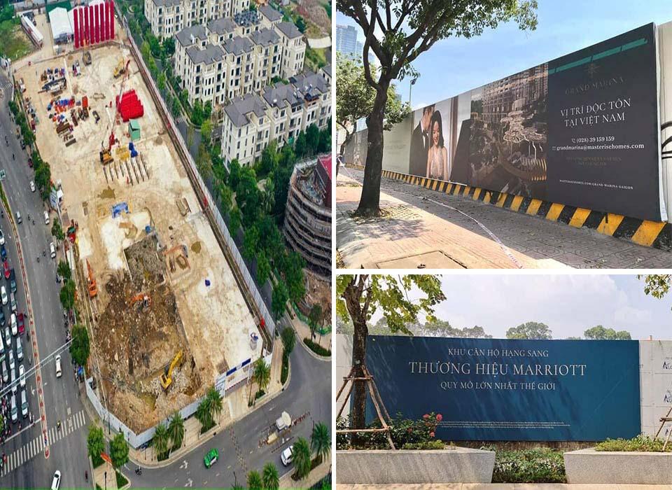 Tiến độ thực tế tại công trường xây dựng Grand Marina District 1