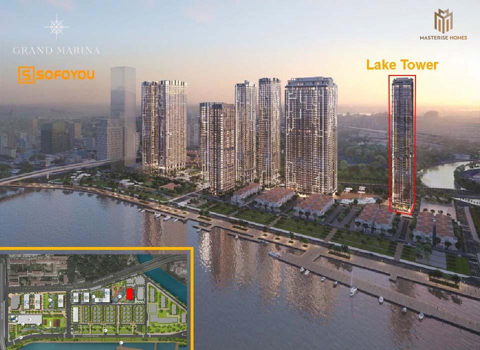 Mặt bằng Layout thiết kế căn hộ Grand Marina Lake Tower