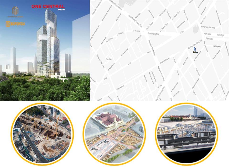 Vị trí dự án căn hộ One Central Quận 1 ở đâu tại Bến Thành?